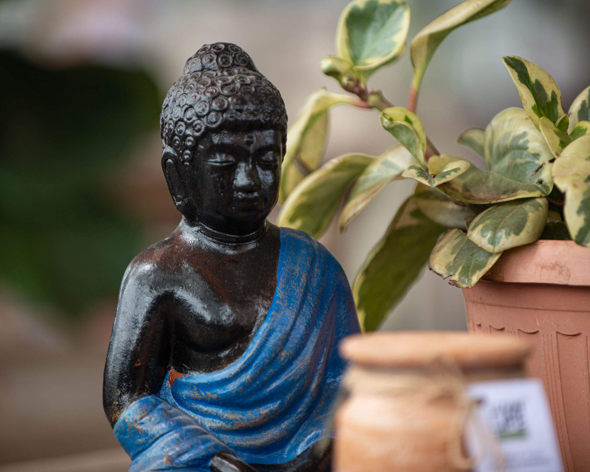Mini Buddha - Blue
