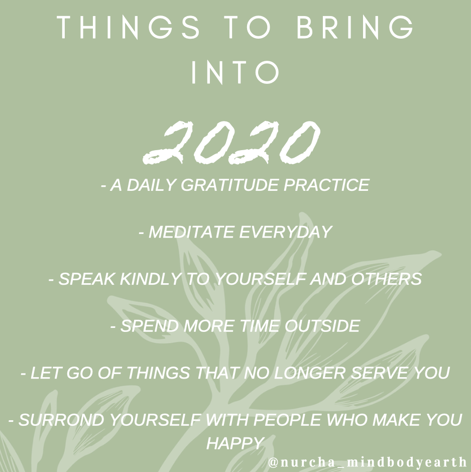 What to bring into 2020