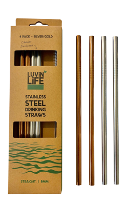 steel straw 4 pack